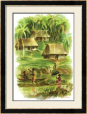 Fiji Framed Giclee Print by Louis Macouillard