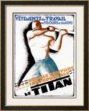 Le Titan Framed Giclee Print by Leon Dupin