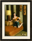 Pin-Up Girl: Kona Kai Motel Room Framed Giclee Print by Richie Fahey