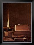 Kerze und Bucher Candlelight Study Prints by Georges de La Tour