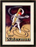 Waterman Ideal Fountain Pen Framed Giclee Print by Jean D' Ylen