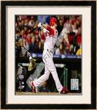 Chase Utley 2009 MLB World Series 3 Run Home Run Framed Photographic Print