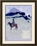 Wonalancet, Peruvian Cotton Framed Giclee Print by Ludwig Hohlwein