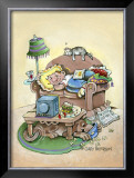 King of the Couch Framed Giclee Print by Gary Patterson