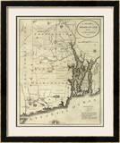 State of Rhode Island, c.1796 Framed Giclee Print by John Reid