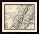 Civil War Map of the Country Adjacent to Harper's Ferry, Virginia, c.1863 Framed Giclee Print by John E. Weyss