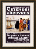 Ostende-Douvres Framed Giclee Print by Henri Cassiers