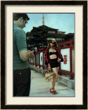 American Tourist in Japan Framed Giclee Print by Richie Fahey
