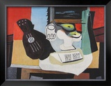 Guitar, Glass and Fruit Prints by Pablo Picasso