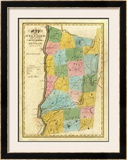 New York: Dutchess, Putnam Counties, c.1829 Framed Giclee Print by David H. Burr
