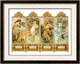 Seasons, 1896 Framed Giclee Print by Alphonse Mucha