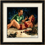 Pin-Up Girl: Island Grotto Framed Giclee Print by Richie Fahey