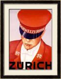 Schweizerhof, Zurich Framed Giclee Print by Alex W. Diggelmann