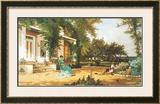 In My Neighbor's Garden Art by Alfred Thompson Bricher