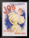 Job Papier and Cigarettes Framed Giclee Print by Jules Chéret