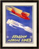Italian Aerial Lines Framed Giclee Print