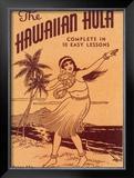 Hawaiian Hula Dance Lessons Framed Giclee Print
