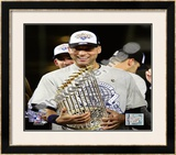 Derek Jeter Game Six of the 2009 MLB World Series Framed Photographic Print