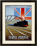 Victoria Station, London, Orient Express Framed Giclee Print by Pierre Fix-Masseau
