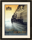 Nach Berlin Locomotive Railway Framed Giclee Print