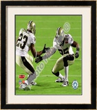Reggie Bush & Pierre Thomas Super Bowl XLIV Celebration Framed Photographic Print