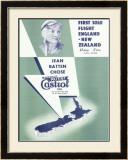 Jean Batten Solo Flight New Zealand Framed Giclee Print