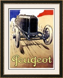 Peugeot, 1919 Framed Giclee Print by René Vincent