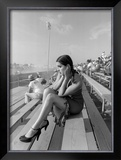 Pin-Up Girl: Dragster Raceway Framed Giclee Print by David Perry