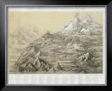 Cuadro General de Alturas Comparativas del Peru, c.1865 Framed Giclee Print by Mariano Felipe Paz Soldan