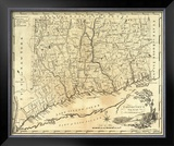 Connecticut, c.1795 Framed Giclee Print by Mathew Carey