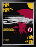 Grasping Grammar: Lay Lie Print by Christopher Rice