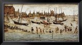 The Beach Prints by Laurence Stephen Lowry