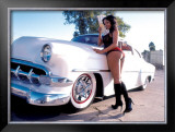 Pin-Up Girl: 1951 Chevy Chop Top Framed Giclee Print by David Perry