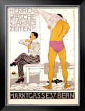 Herrenwasche, 4 Jahreszeiten Framed Giclee Print by Burkhard Mangold