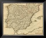 Spain, Portugal, c.1812 Framed Giclee Print by Aaron Arrowsmith