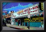 Liquor Beer Wine, Venice Beach, California Framed Giclee Print by Steve Ash