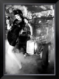 Pin-Up Girl: Voodoo Munster Mobile Framed Giclee Print by David Perry