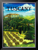 Tuscany Italy Framed Giclee Print by Caroline Haliday
