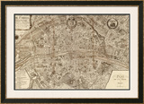 Plan de la Ville de Paris, 1715 Prints by Nicolas De Fer