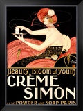 Creme Simone Bath Beauty Framed Giclee Print by Emilio Vila