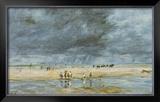 Figures On Beach Print by Eugène Boudin