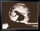 Moon Dancer, Hula Girl Poster by Alan Houghton