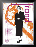 Ayn Rand Print by Jeanne Stevenson