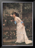 Girl and Roses Posters by Auguste Toulmouche