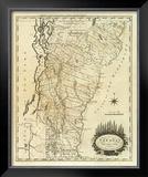 Vermont, c.1795 Framed Giclee Print by Mathew Carey