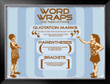 Punctuation: Word Wraps Art by Christopher Rice