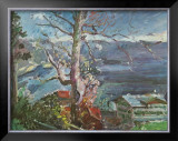 Tree at the Walchensee Poster by Lovis Corinth