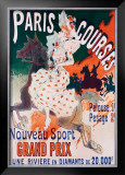 Paris Courses Framed Giclee Print by Jules Chéret