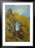 Autumn Forest in the Moon Light Prints by Eugen Bracht