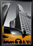 Chrysler Building, New York City Taxi Print by Michel Setboun